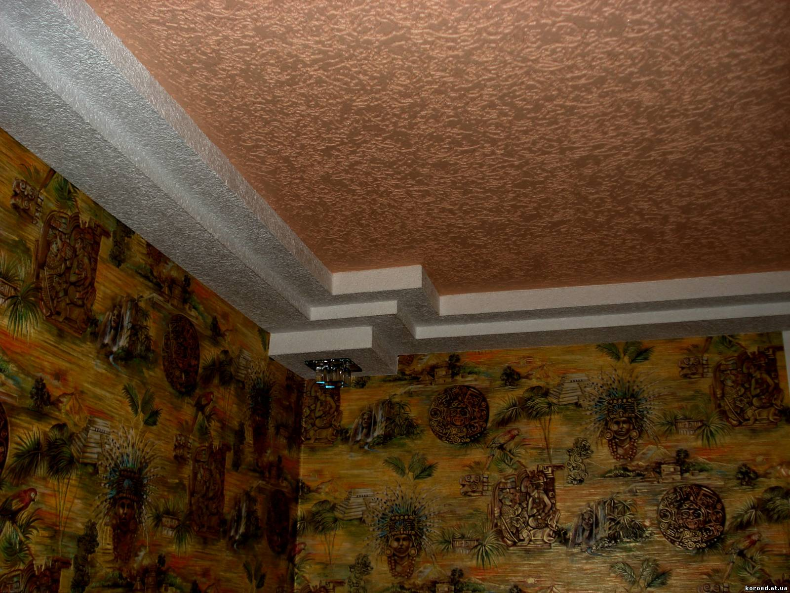 Декоративная штукатурка своими руками фото потолки